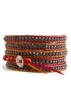 "semiprecious stone chan luu bracelet 34"" long 5 wraps around"