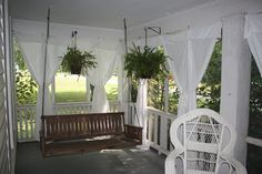 The Phillipsu0027 Place: Summertime Porch Curtains: On The Cheap! Cute Idea.
