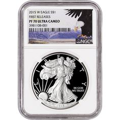 2015-W American Silver Eagle Proof - NGC PF70 UCAM - First Releases - Bald Eagle