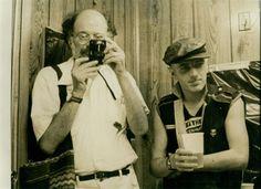 The Allen Ginsberg Project: Allen Ginsberg Punk Rocker (part two) Allen Ginsberg and Joe Strummer, backstage at Bonds International Casino, Times Square, New York, June 10 1981 - photo c. Hank O'Neal.