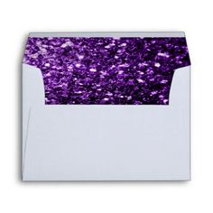 Beautiful Purple glitter sparkles Envelope
