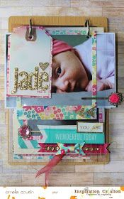 """Mini album using Maggie Holmes collection for Crate Paper . Inspiration Création Blog: Mini """"you are wonderful today"""" {by Amélie}"""