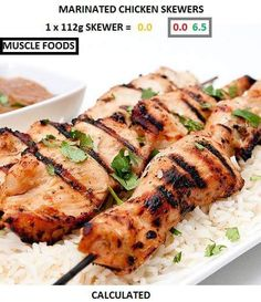 Marinated chicken skewers from Muscle Foods  http://www.musclefood.com/EC127001