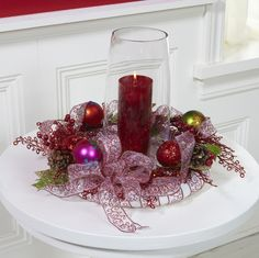 FloraCraft® Ornament Candle Ring by Dondi Richardson #christmas #craft