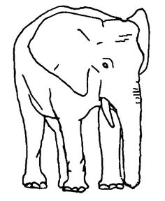 Elephants With Long Legs Elephant Coloring Page 2Kids