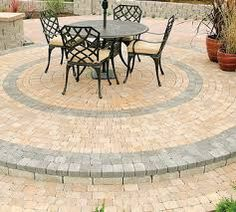 Paving patio idea and landscaping design.