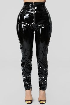 Miss Behaving Pant Set - Black – Fashion Nova Vinyl Trousers, Pvc Leggings, Full Body Suit, Gothic Outfits, Leather Fashion, Cool Outfits, Leather Pants, Plus Size, Womens Fashion
