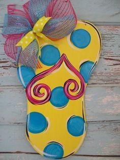 Flip Flop Door hanger by BluePickleDesigns on Etsy, $28.00
