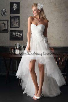 Asymmetric Cascade Brinkman BR6085 A-line Wedding Dress