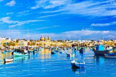 Marsaxlokk Fishing Village, Malta stock photo