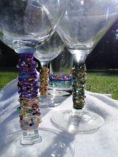 Set of 2 Wire Wrapped Glasses Made to Order Choose by Spasojevich, $25.00