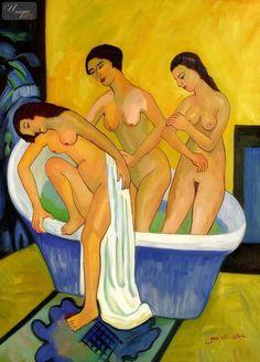 Ernst Ludwig Kirchner | 1880-1938, Germany | Women bathing