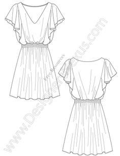 Draped-Dress-Vector-Fashion-Sketch-Template