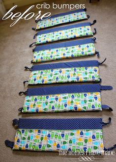 What a great way to repurpose crib bumpers - this keeps them maturing with the child :)