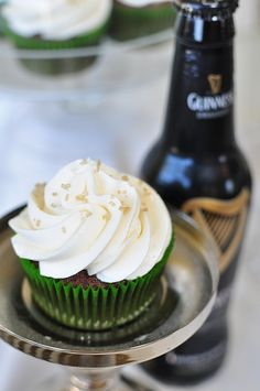 Chocolate Guinness Cupcakes...I'm pinning this for a second time in two days...made these today, and they are AMAZING!!!!!!