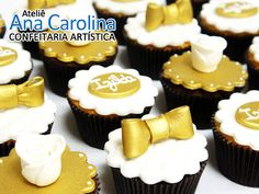 Festa Tema: Preto e Dourado,um Luxo a parte! | Make na Cozinha! Its My Bday, Mini Cupcakes, Desserts, Queen, Diy, Beautiful, Gold Cupcakes, Cupcake Birthday, Black Gold Party