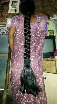Long Hair Ponytail, Bun Hairstyles For Long Hair, Indian Hairstyles, Braided Hairstyles, Braid Hair, Two Braids, Braids For Long Hair, Beautiful Braids, Beautiful Long Hair
