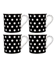 Look at this White & Black Mug - Set of Four on #zulily today!