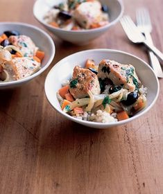 Chicken With Olives and Carrots recipe from realsimple.com #myplate #protein