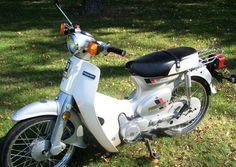 The silver fox. Mine isn't this nice, it's a future project waiting in the basement. Vintage Honda Motorcycles, Honda Passport, Honda Cub, Mini Bike, Cool Bikes, Motorbikes, Cubs, Vehicles, Putt Putt
