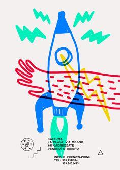 Graphic Design Marco_oggian-Flyer-Grafik-Inspiration-Fusee Mother Nature Loves an Oakland Garden Put Graphic Poster, Art Design, Illustrations Posters, Kids Design, Print Design, Graphic Design Illustration, Illustration Design, Visual Design, Cover Design