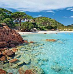 PALOMBAGGIA BEACH, CORSICA, FRANCE...