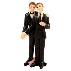 Männer-Hochzeitspaar, 9 cm Männerpaar Tortenfigur Deko  ------  Details on Men's Wedding couple, 9 cm Men Couple Tortenfigur Deco Man + Man