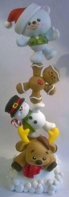 Resultado de imagen para navidad en porcelana fria