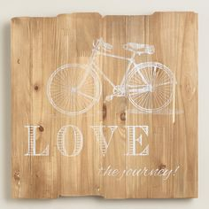 """Love the Journey"" Sign | World Market #ad #worldmarkettribe"