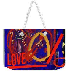 """Love Weekender Tote Bag for Sale by Janis Kirstein  