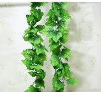 Type: Decorative Flowers & Wreaths,Flower Vine/Rattan Style: Flower Occasion: Wedding color: gre