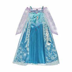 Frozen Disney Princess Elsa Fancy Dress BNWT 3 8yrs INC Hairpiece George Costume | eBay