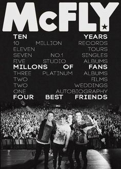 I owe McFly my life. Carry on guys! You're the best. Music Is Life, My Music, Music Stuff, Best Autobiographies, Dougie Poynter, Jake Bugg, Olly Murs, Guy Names, The Vamps