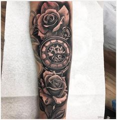 Compass tattoo forearm, rose tattoo forearm, mens forearm tattoos, forarm t Compass Tattoo Forearm, Compass Rose Tattoo, Rose Tattoo Forearm, Cool Forearm Tattoos, Body Art Tattoos, New Tattoos, Tattoos For Guys, Tattoos For Women, Cool Tattoos