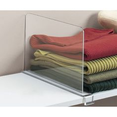 These Acrylic Shelf Dividers ($17) keep sloppy folding jobs at bay | 11 Stylish Tools to Contain Your Closet Clutter | POPSUGAR Home Photo 3