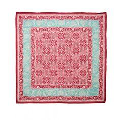 Batik Tile Print Cotton Handkerchief - Hanks - Drakes London
