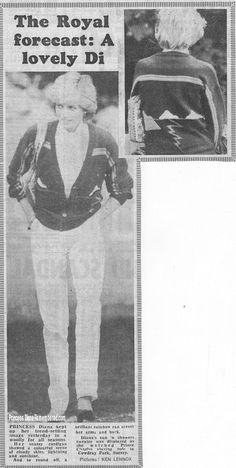 Photo taken 1 Aug 1983 Newspaper from 2 August, showing photos of Diana at a polo match the previous day at Cowdray Park