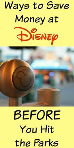 Budget Disney: Seven Tips To Save You Money on your next Walt Disney World vacation Before You Hit The Parks! Disney On A Budget, Disney Vacation Planning, Disney World Planning, Vacation Ideas, Trip Planning, Disney Honeymoon, Disney World 2017, Walt Disney World Vacations, Disney Resorts