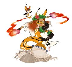 Rena Rouge and her fox Kwami, Trixx as Hawaiian dancers from Miraculous Ladybug and Cat Noir Ladybug Y Cat Noir, Miraclous Ladybug, Ladybug Comics, Alya Miraculous, Miraculous Ladybug Oc, The Villain, Lucky Charm, Paper Dolls, Character Design