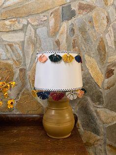 DIY Anthropologie Inspired Tasseled Lamp Shade Thread Up, Barbie Hair, Fun Challenges, Lamp Shades, Roots, Anthropologie, Table Lamp, Inspired, Lighting