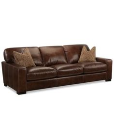 Kingston 96 Leather Sofa Found At JCPenney Heavenly