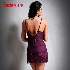 Suze Er doamnă încântătoare lenjerie sexy ispită sexy curea transparent gol cămașă de noapte pijama calde - Zuru air Services