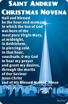 St. Andrew's Christmas Novena Begins November 30th! | St andrews ...