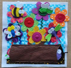 Lindy J Design...love these little bugs with magnets--another cute take on flowers. instead of attaching the flowers the bugs have magnets in them so will stick to the flowers and are stored in the log. Very cute.