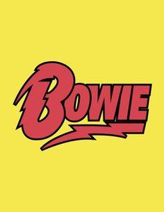Vivid David Bowie lightning bolt logo, 1970s, in yellow, black on brilliant yellow, glam rock, legend, icon, Available in posters, prints, cellphone covers, t-shirts, greeting cards, pillows, carry-all totes, pencil cases, shower curtain, towels.