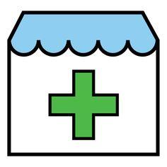 Pictogramas ARASAAC - Farmacia (esquemático).