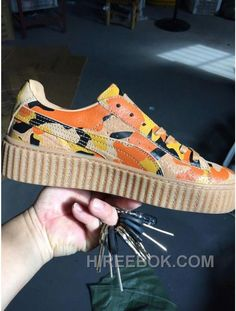 4ea48ccefa4 Puma X Rihanna Creeper Vintage Camo Brown Women Men Top Deals
