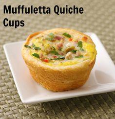 Muffuletta Quiche Cups #MardiGras