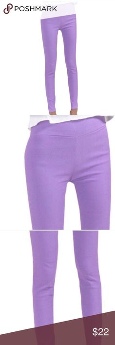 """NWT💜Lavender Extra Stretchy Jeggings💜 💜Lavender Extra Stretch Jeggings💜 Super Soft and Extra Stretchy Viscose-60% Spandex-30% Polyester-10% These are thicker than leggings and will keep all that stuff you don't want seen sucked in! Well made and Very Comfy! Approximate Measurements Waist-24""""-34"""" Hip-30""""-44"""" Inseam-27"""" Pants Leggings"""