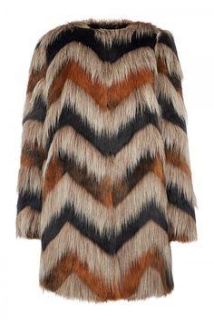 Biba Carved Faux Fur Coat